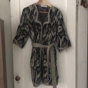 Stell McCartney leopard belted sweater robe!